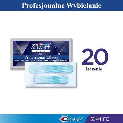 Professional Effects Whitestrips - 20 torebek